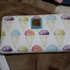 Dooney & Bourke Snow Cones Large Zip Around Wallet